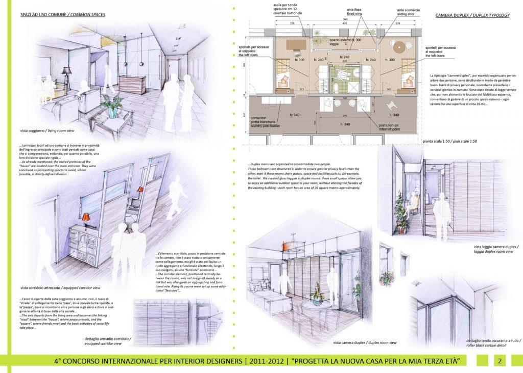 progetto per quarto Concorso internazionale per Interior Designers 2011-2012
